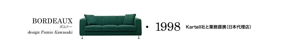 【1998】Kartell社と業務提携(日本代理店)/BORDEAUX ボルドー design Fumio Kawasaki